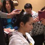 元床山さんの髪結い実演会と食育セミナーコラボセミナー