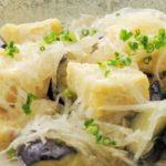 目の健康【レシピ】揚げだし豆腐と茄子と大根の煮物